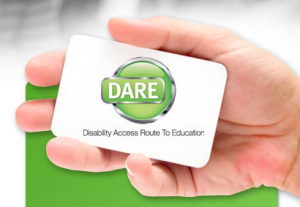 DARE higher education access card
