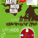 Mayo Mud Run poster with Gutsy Kids logo